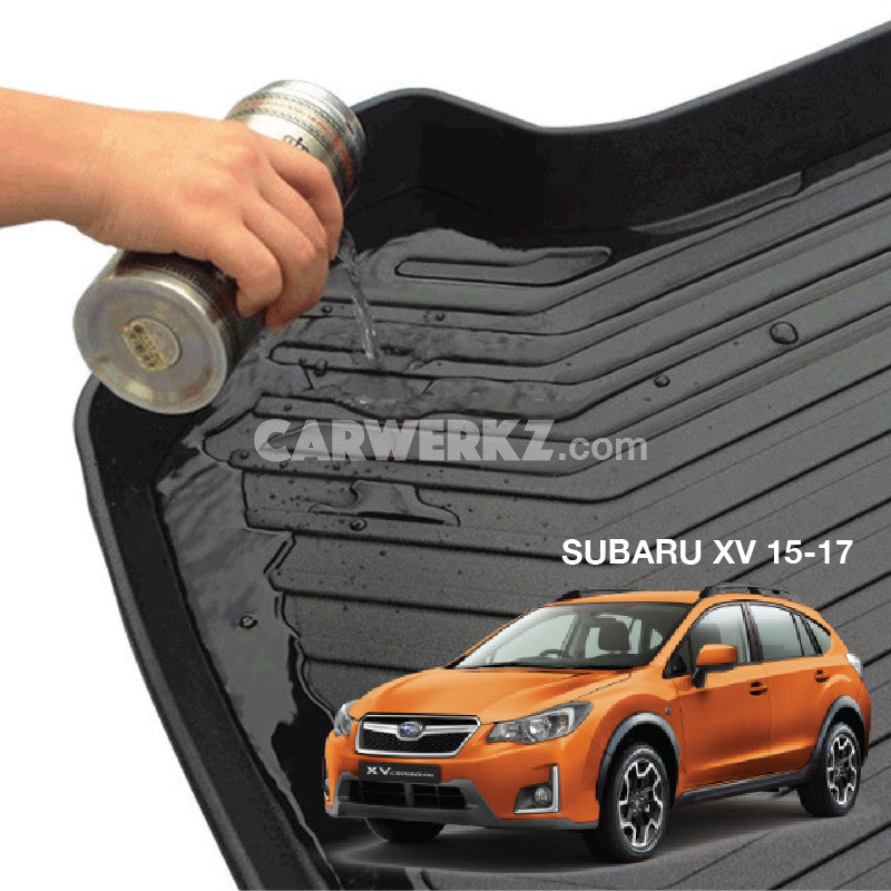 Subaru XV Crosstrek 2011-2017 1st Generation Japan Crossover Customised SUV Trunk Perfect Moulded Ultra Durable TPO 3D Boot Tray - CarWerkz