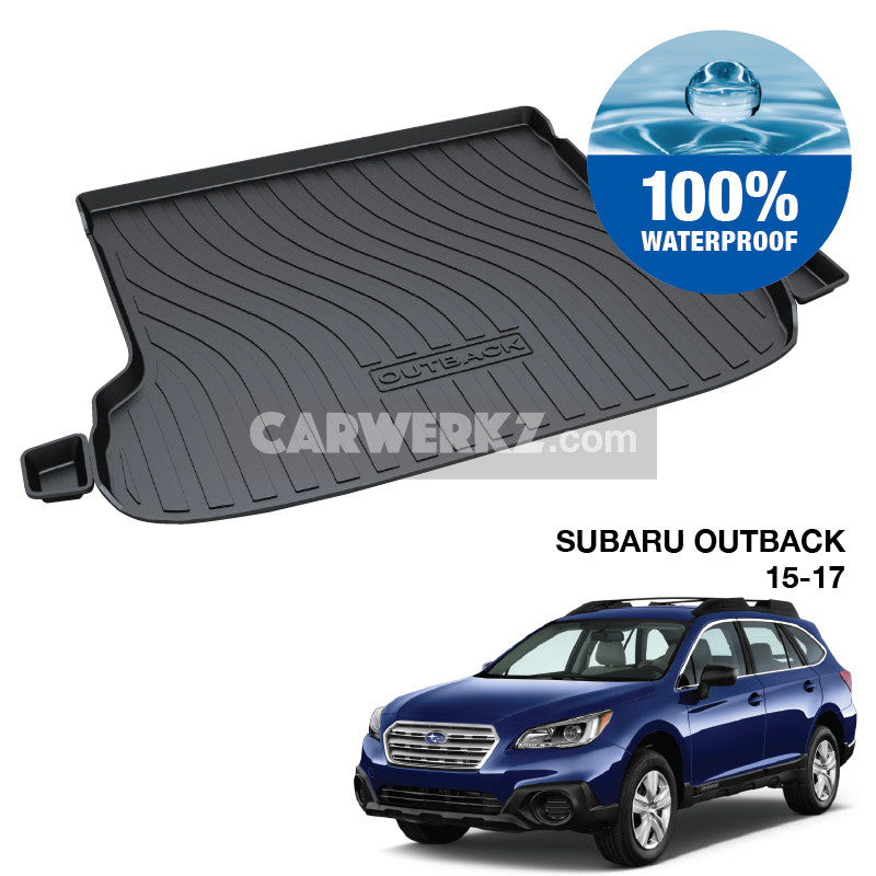 Subaru Outback 2015-2019 5th Generation Japan Stationwagon Customised Trunk Perfect Moulded Ultra Durable TPO 3D Boot Tray - CarWerkz