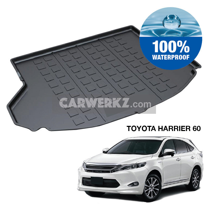Toyota Harrier 2013-2018 3rd Generation (XU60) Perfect Fit Waterproof TPO Boot Tray - CarWerkz