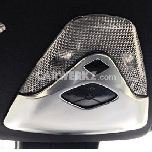Toyota C-HR 2016-2017 Interior Front Reading Light Lamp Cover Trim 1pc Silver - CarWerkz