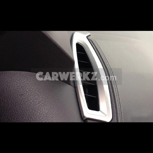 Toyota C-HR 2016-2017 Interior Front Upper Air Vent Cover Trim ABS 2pcs Silver - CarWerkz