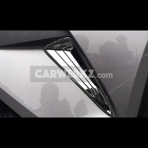 Toyota C-HR 2016-2017 Front Bumper Corner Cover Trim ABS 2pcs Chrome - CarWerkz