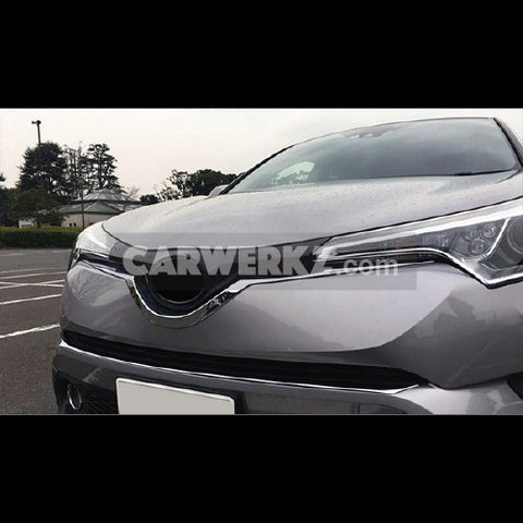 Toyota C-HR 2016-2017 Front Center Grill Grid U Shape Cover Trim 1pc Chrome