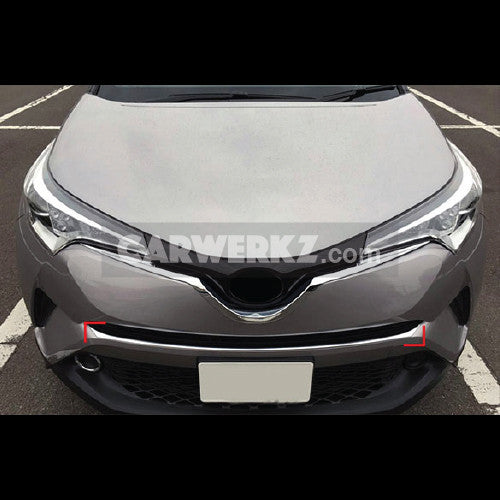 Toyota C-HR 2016-2017 Front Bottom Grill Grid Cover Trim ABS 1pc Chrome - CarWerkz