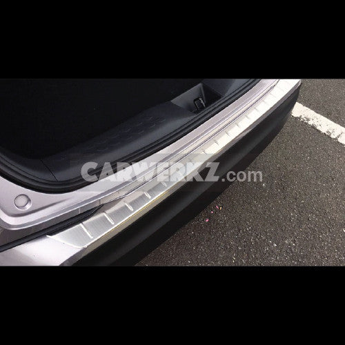 Toyota C-HR 2016-2017 Outer Rear Sill Bumper Cover Plate Stainless Steel 1pc Silver - CarWerkz