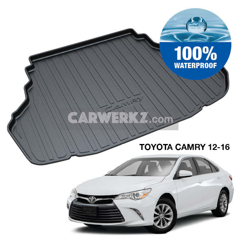 Toyota Camry 2011-2017 11th Generation (XV50) Japanese Executive Sedan Customised Car Trunk Perfect Moulded Ultra Durable TPO 3D Boot Tray - CarWerkz