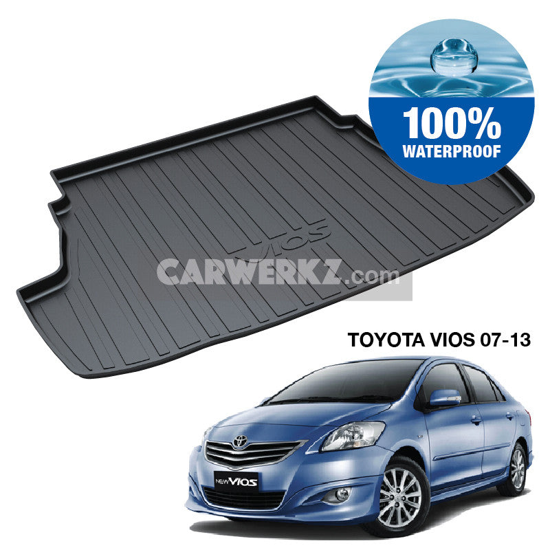 Toyota Vios 2007-2013 2nd Generation (XP90 NCP93) Japan Sedan Customised Car Trunk Perfect Moulded Ultra Durable TPO 3D Boot Tray - CarWerkz