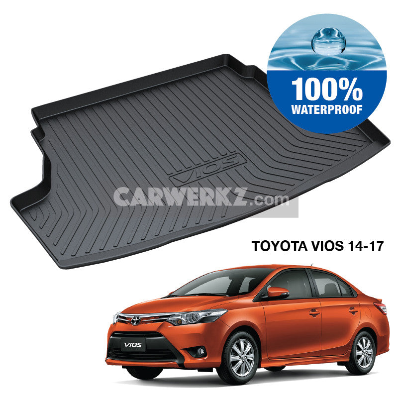Toyota Vios 2013-2017 3rd Generation (XP150) Japan Sedan Customised Car Trunk Perfect Moulded Ultra Durable TPO 3D Boot Tray - CarWerkz