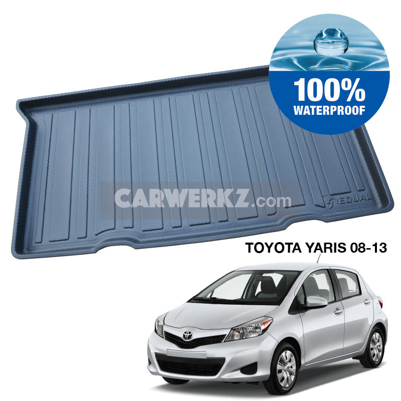 Toyota Yaris 2008-2013 2nd Generation (XP90) Trunk Perfect Moulded Ultra Durable TPO 3D Boot Tray - CarWerkz