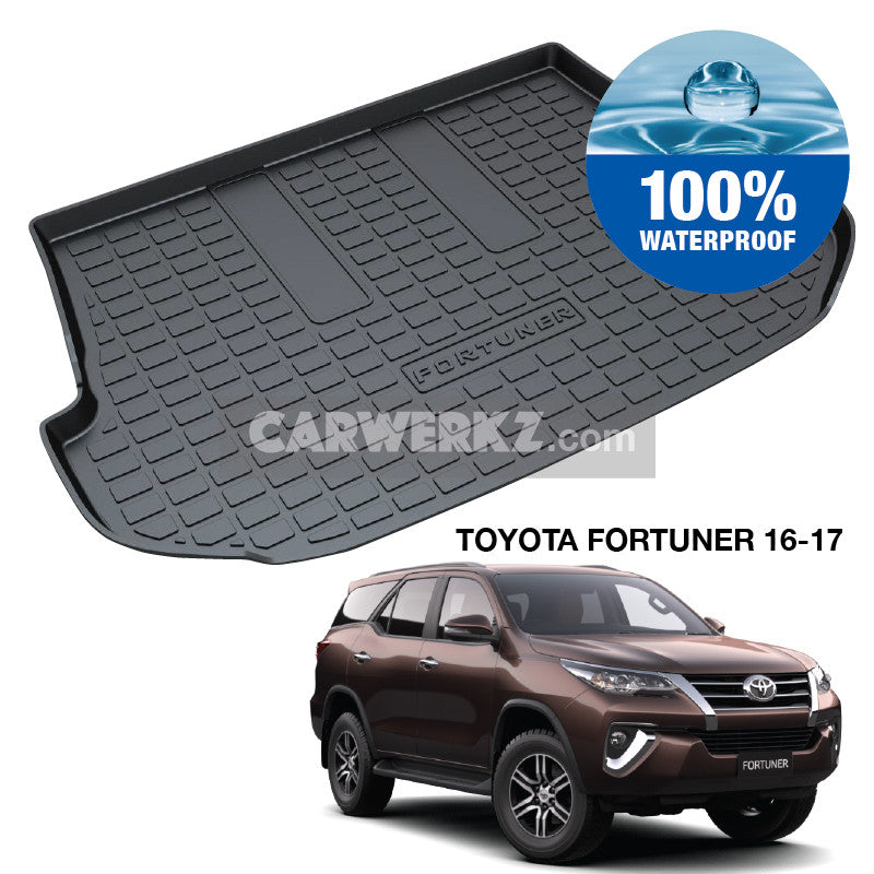 Toyota Fortuner 2016-2020 2nd Generation (AN150) Trunk Perfect Moulded Ultra Durable TPO 3D Boot Tray - CarWerkz