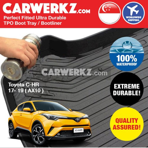 Toyota C-HR CHR 2017-2020 1st Generation (AX10) Japan Subcompact Crossover SUV Customised Car Trunk Perfect Moulded Ultra Durable TPO 3D Boot Tray - CarWerkz
