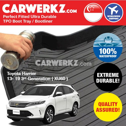Toyota Harrier 2013-2019 3rd Generation (XU60) Ultra Durable TPO Boot Tray Bootliner