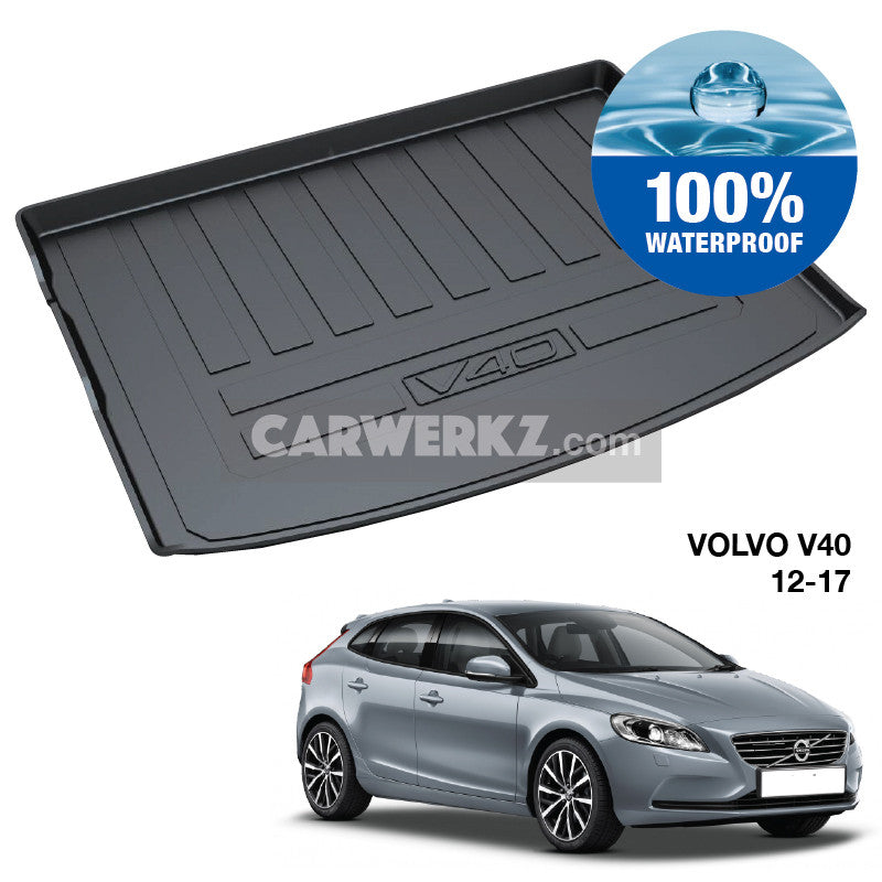 Volvo V40 2012-2019 1st Generation Sweden Hatchback Customised Car Trunk Perfect Moulded Ultra Durable TPO 3D Boot Tray - CarWerkz