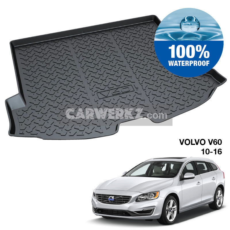 Volvo V60 2010-2018 1st Generation (DE) Sweden Wagon Customised Car Trunk Perfect Moulded Ultra Durable TPO 3D Boot Tray - CarWerkz