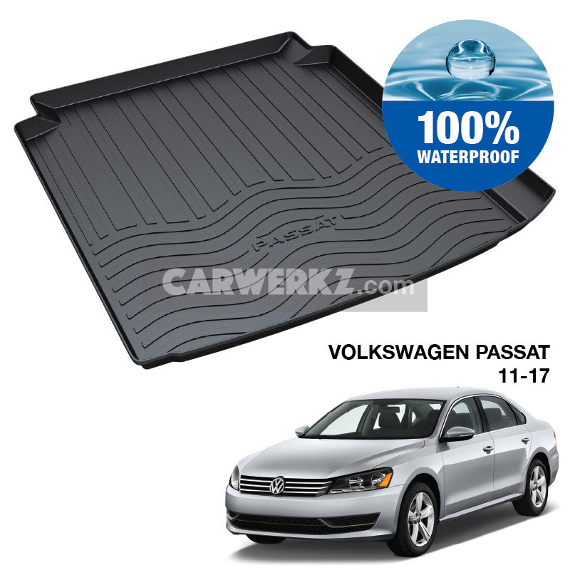 Volkswagen Passat 2011-2015 (B6 B7 Typ: 3C) Trunk Perfect Moulded Ultra Durable TPO 3D Boot Tray - CarWerkz
