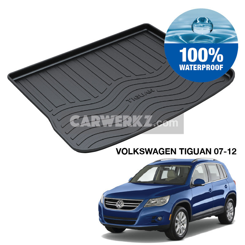 Volkswagen Tiguan 2009-2011 1st Generation Trunk Perfect Moulded Ultra Durable TPO 3D Boot Tray - CarWerkz