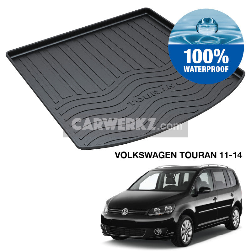 Volkswagen Touran 2011-2014 1st Generation (2nd Facelift) Trunk Perfect Moulded Ultra Durable TPO 3D Boot Tray - CarWerkz