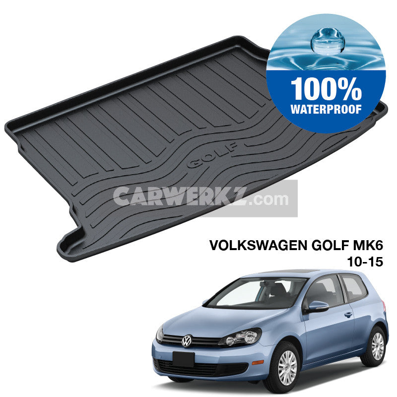 Volkswagen Golf 2008-2012 6th Generation (MK6) Germany Hatchback Customised Car Trunk Perfect Moulded Ultra Durable TPO 3D Boot Tray - CarWerkz
