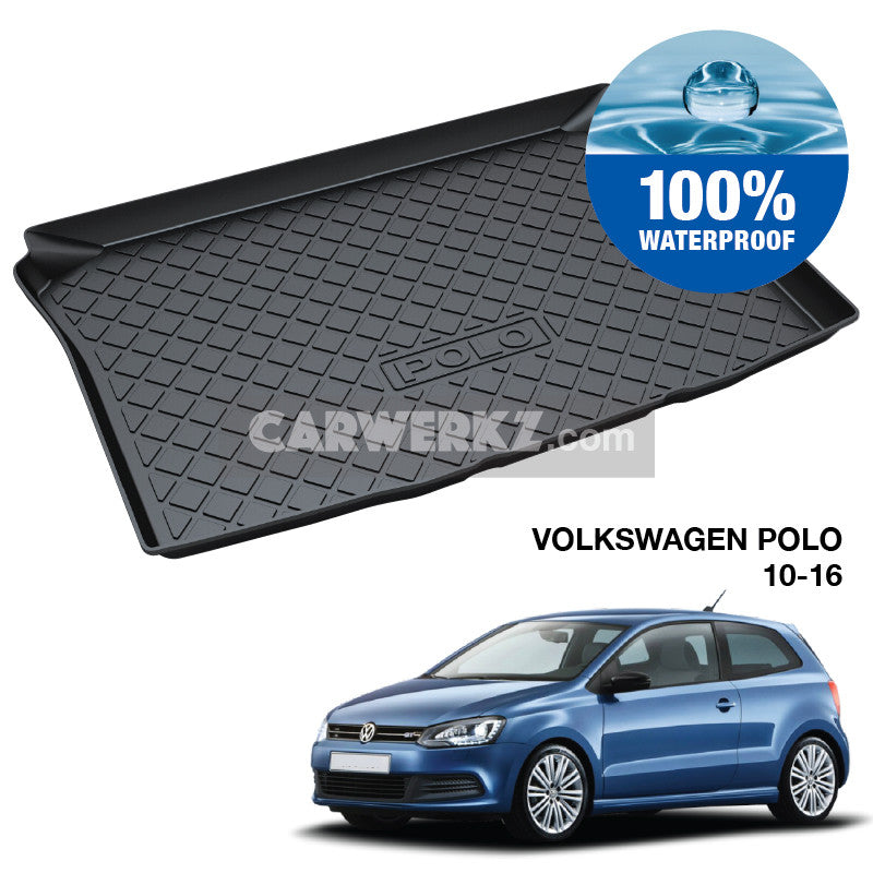Volkswagen Polo 2010-2016 5th Generation (MK5 Typ: 6R) Trunk Perfect Moulded Ultra Durable TPO 3D Boot Tray - CarWerkz