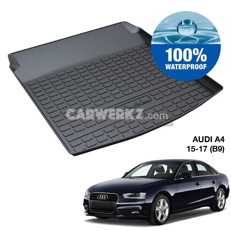 Audi A4 S4 Sedan 2016-2020 5th Generation (B9) Germany Sedan Customised Car Trunk Perfect Moulded Ultra Durable TPO 3D Boot Tray - CarWerkz