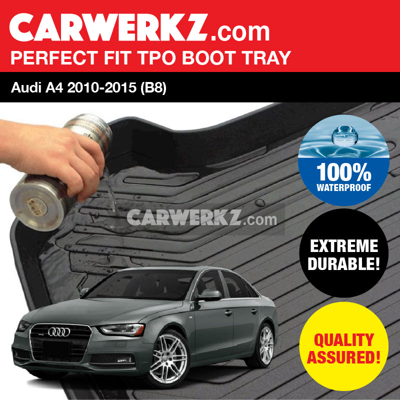 Audi A4 S4 Sedan 2010-2015 (B8) TPO Ultra Durable TPO Boot Tray Bootliner - CarWerkz