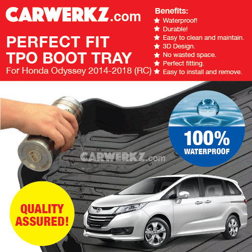 Honda Odyssey 2013-2020 5th Generation (RC) Japan MPV Customised Car Trunk Perfect Moulded Ultra Durable TPO 3D Boot Tray - CarWerkz
