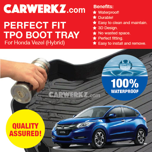 Honda Vezel Hybrid 2013-2018 1st Generation Perfect Fit Waterproof TPO Boot Tray - CarWerkz