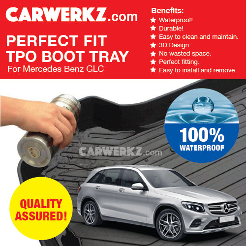 Mercedes Benz GLC Class Coupe 2016-2020 (C253) Germany Luxury SUV Customised Car Trunk Perfect Moulded Ultra Durable TPO 3D Boot Tray - CarWerkz