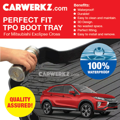 Mitsubishi Eclipse Cross 2017-2019 Ultra Durable TPO Boot Tray Bootliner - CarWerkz