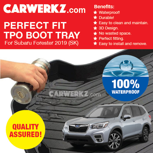 Subaru Forester 2019 5th Generation (SK) Perfect Fitting Most Durable TPO Boot Tray - CarWerkz