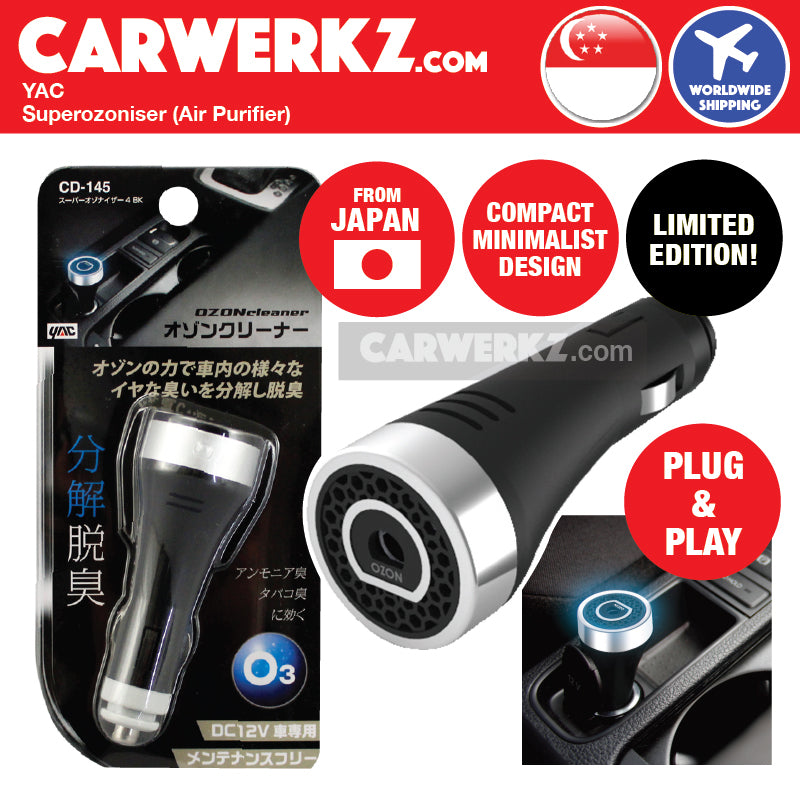 Superozonizer for better air in car (Black) (Limited Edition) - CarWerkz