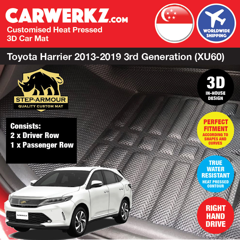 STEP ARMOUR™ Toyota Harrier 2013-2019 3rd Generation (XU60) Japan SUV Customised 3D Car Mat - CarWerkz