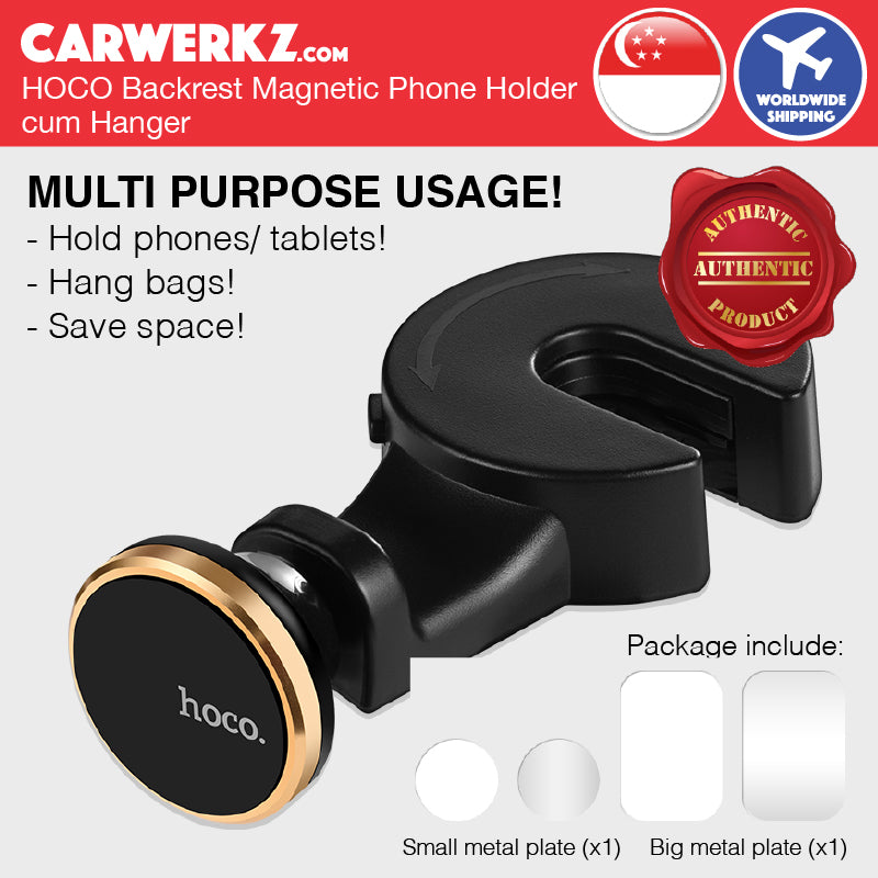 Hoco Back Seat Phone Holder cum Hanger CA18 - CarWerkz