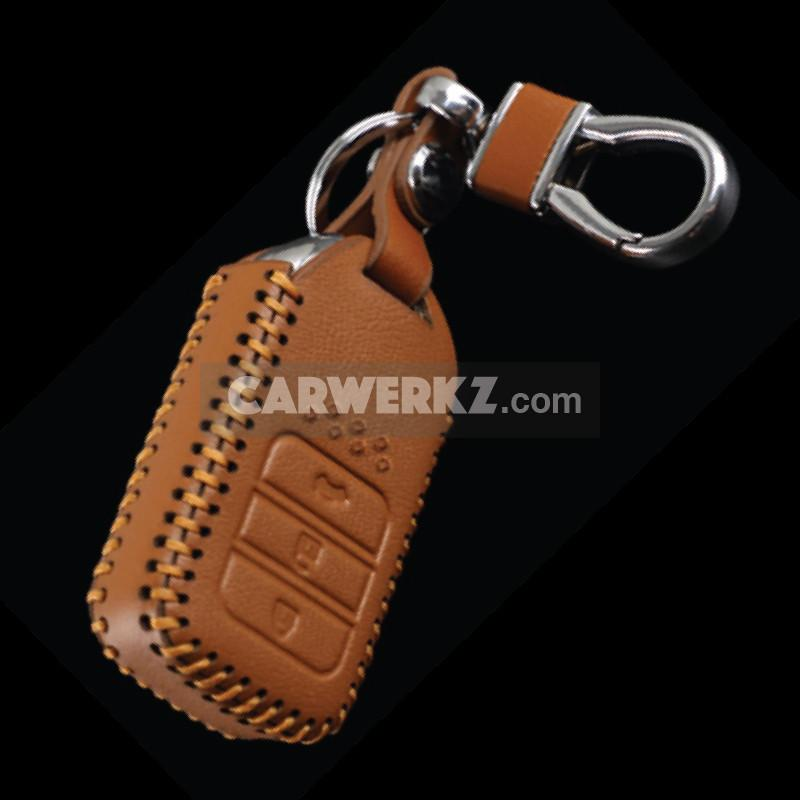 Honda 3 Buttons Classy Range Quality Leather Key Holder