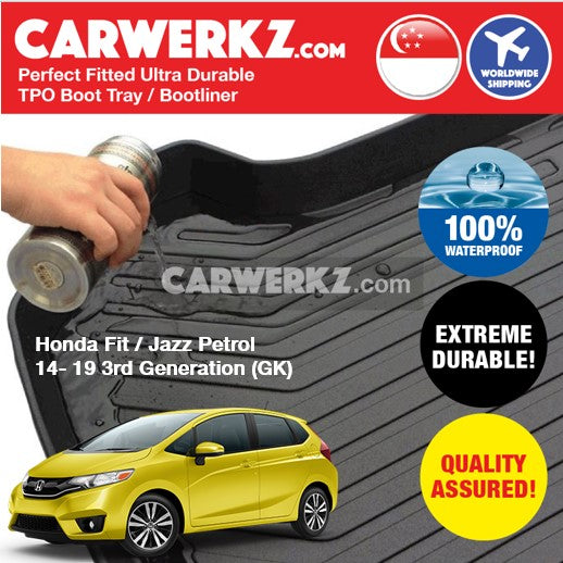 Honda Fit Jazz Petrol 2014-2020 3rd Generation (GK) Japan Hatchback Trunk Perfect Moulded Ultra Durable TPO 3D Boot Tray - CarWerkz