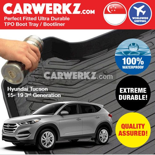 Hyundai Tucson 2015-2019 3rd Generation Ultra Durable TPO Boot Tray Bootliner - CarWerkz