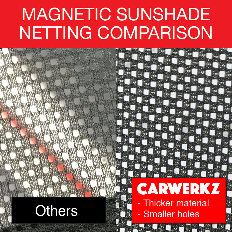 Volvo V60 Stationwagon Car Accessories 2011 2012 2013 2014 2015 2016 2017 2018 1st Generation (DE) Customised Car Window Magnetic Sunshades Netting Fabric Comparison