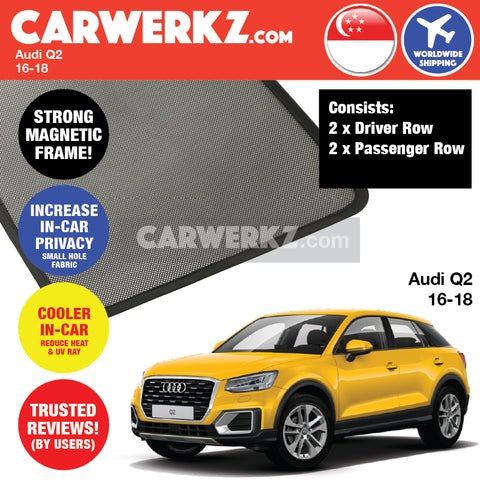 Audi Q2 SUV Sport Utility Vehicles CUV Crossover Utility Vehicles Car Accessories 2016 2017 2018 Customised Window Magnetic Sunshades