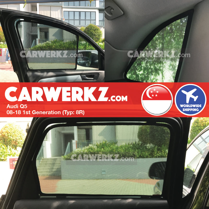 Audi Q5 2008-2018 1st Generation (8R) Customised German Luxury SUV Window Magnetic Sunshades - CarWerkz