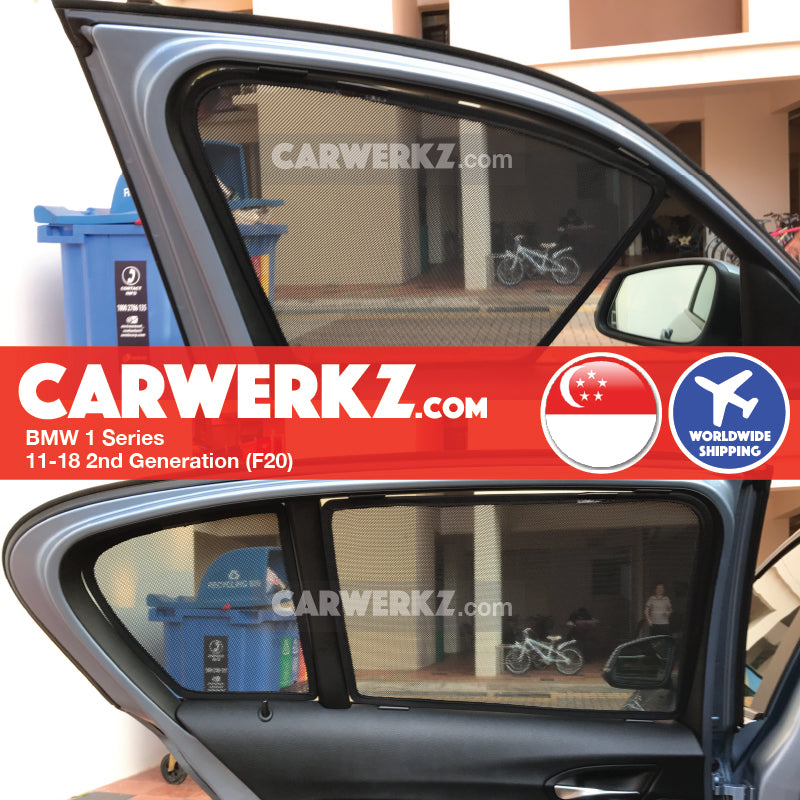BMW 1 Series 2011-2019 2nd Generation (F20) Customised Luxury German Hatchback Car Window Magnetic Sunshades - CarWerkz