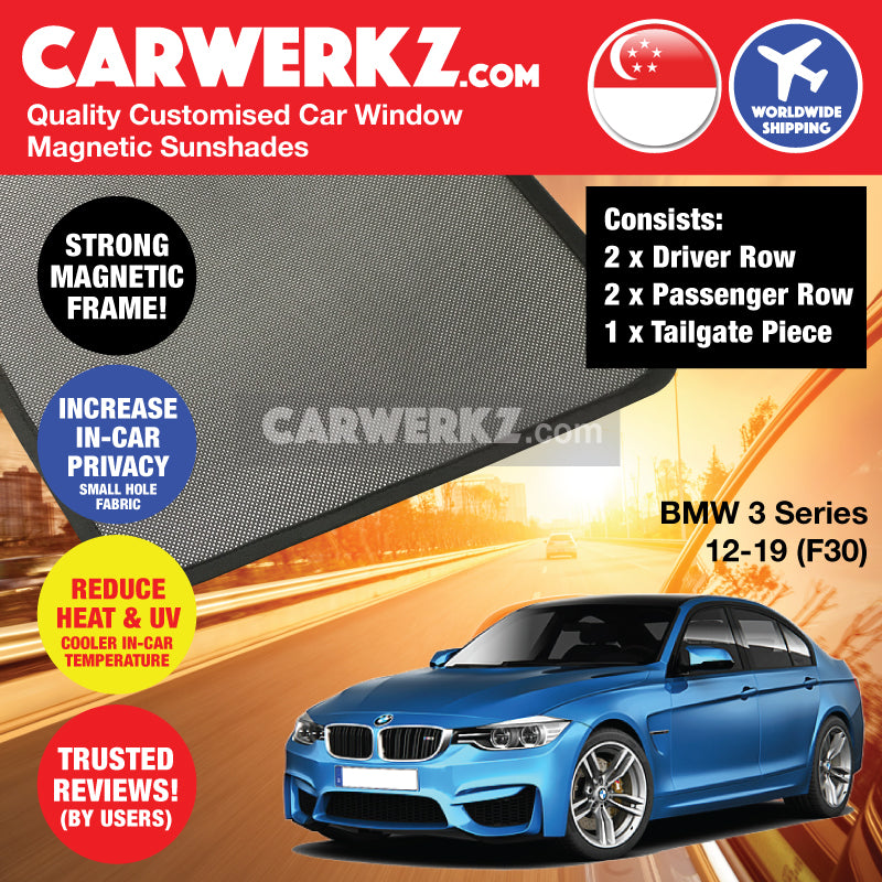 BMW 3 Series 2011-2019 6th Generation (F30) Customised Luxury Germany Sedan Car Window Magnetic Sunshades