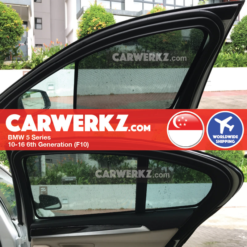 BMW 5 series 2010-2016 6th Generation (F10) Magnetic Sunshades - CarWerkz
