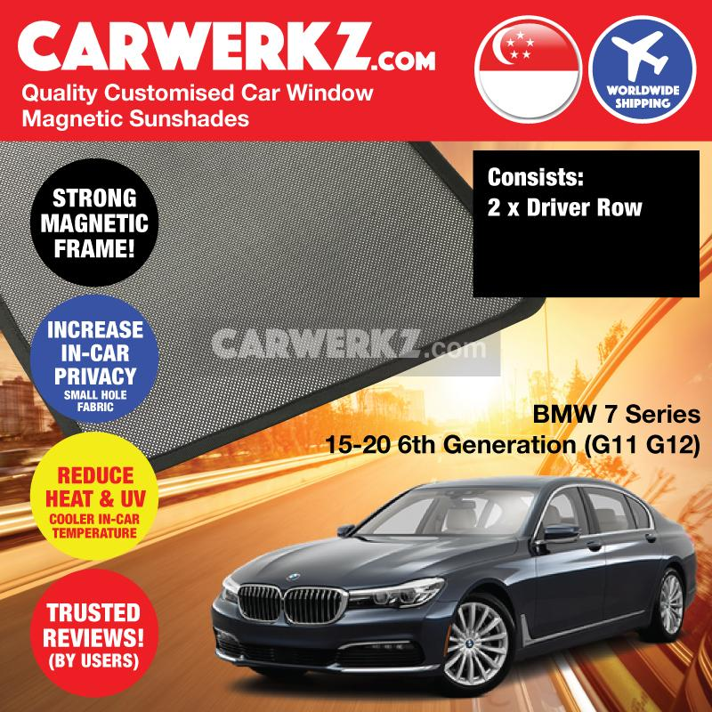 BMW 7 series 2015-2020 6th Generation (G11 G12) Customised Luxury Germany Sedan Car Window Magnetic Sunshades 2 Pieces - CarWerkz