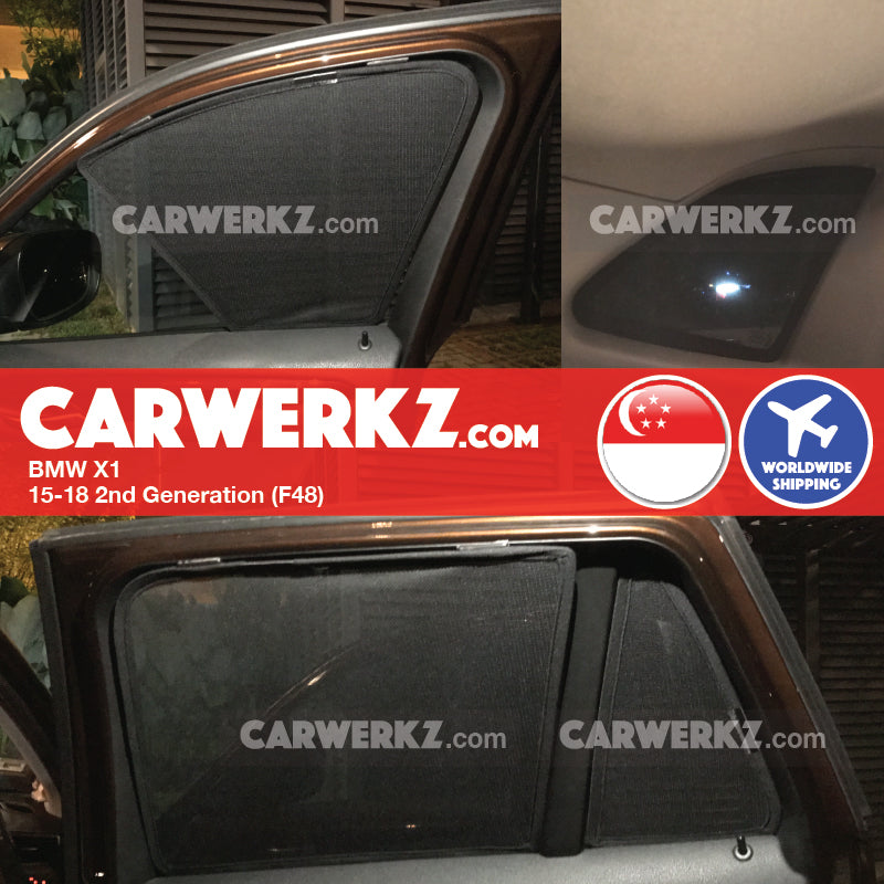BMW X1 2009-2015 1st Generation (E84) Customised Luxury German Compact SUV Car Window Magnetic Sunshades 8 Pieces - CarWerkz