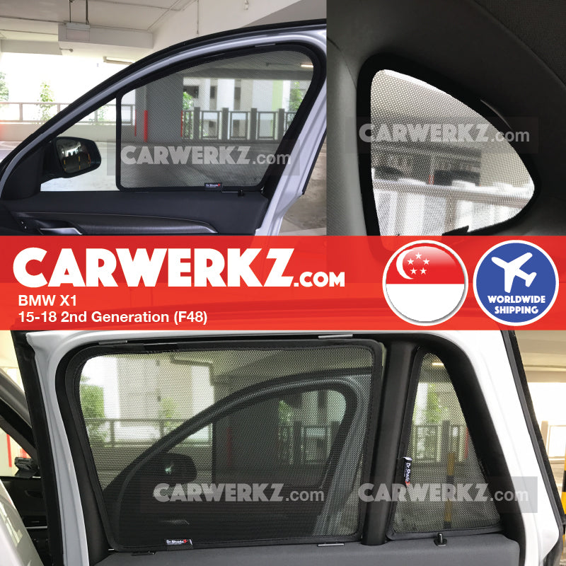 BMW X1 2015-2017 2nd Generation (F48) Magnetic Sunshades - CarWerkz