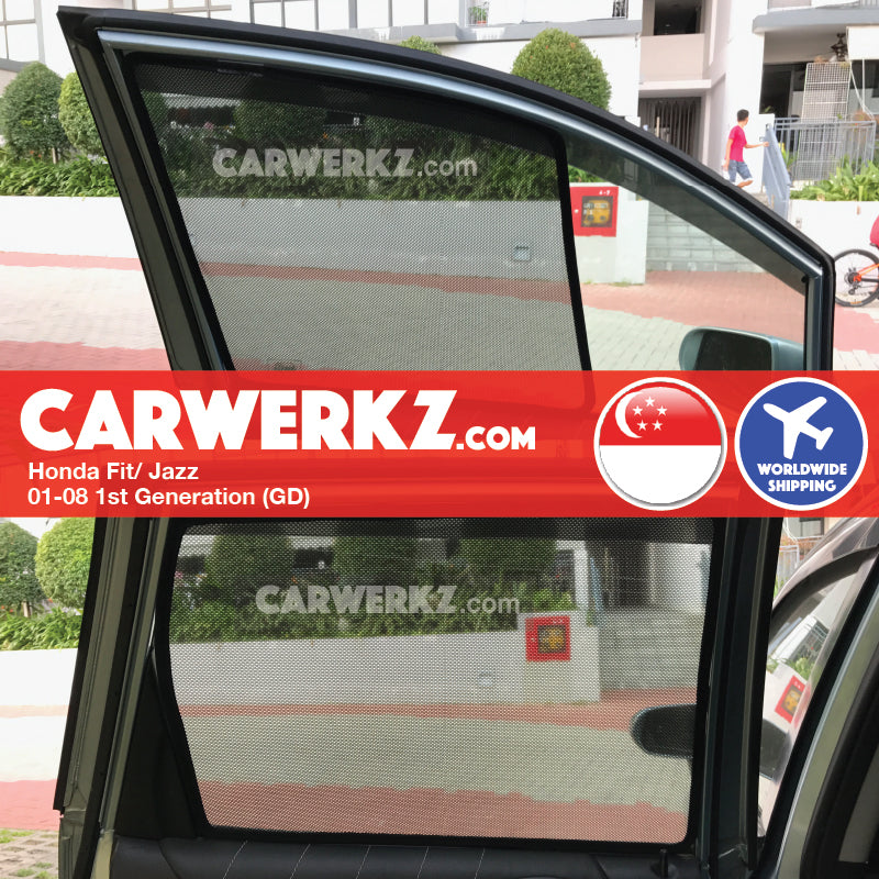 Honda Fit Jazz 2001-2008 1st Generation (GD) Magnetic Sunshades - CarWerkz