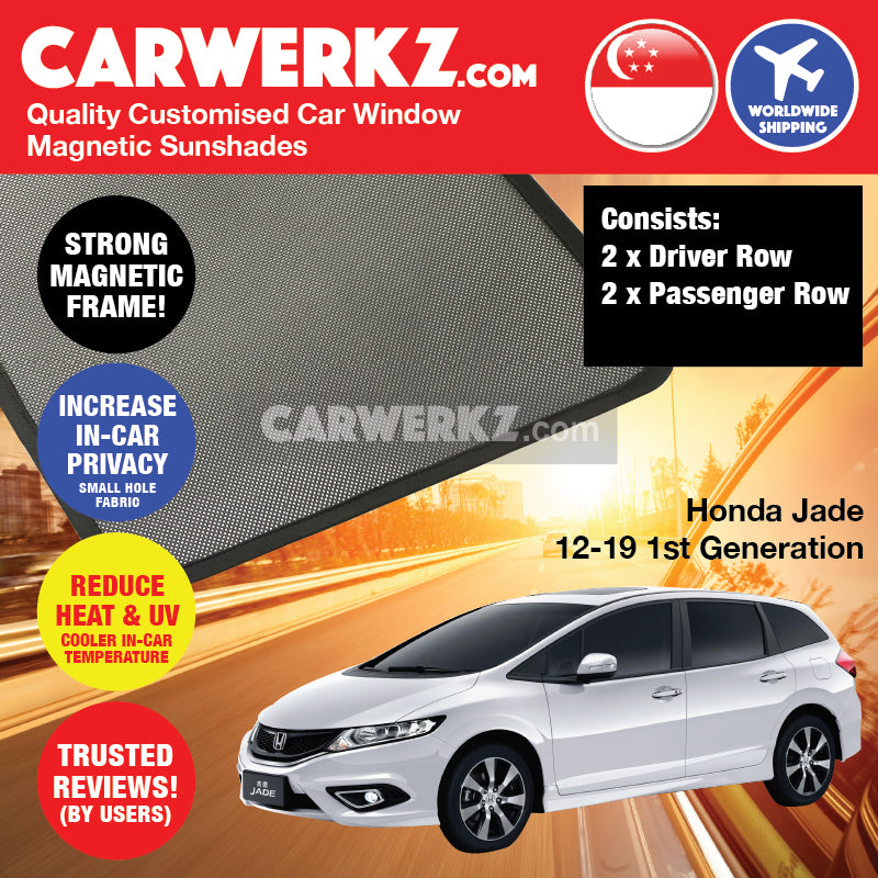 Honda Jade 2013-2020 1st Generation Japan Compact MPV Customised Car Window Magnetic Sunshades - CarWerkz
