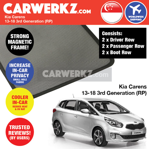 Kia Carens 2013-2017 3rd Generation (RP) Customised Magnetic Sunshades