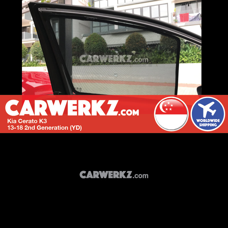 Kia Cerato K3 2013-2018 2nd Generation (YD) Magnetic Sunshades - CarWerkz