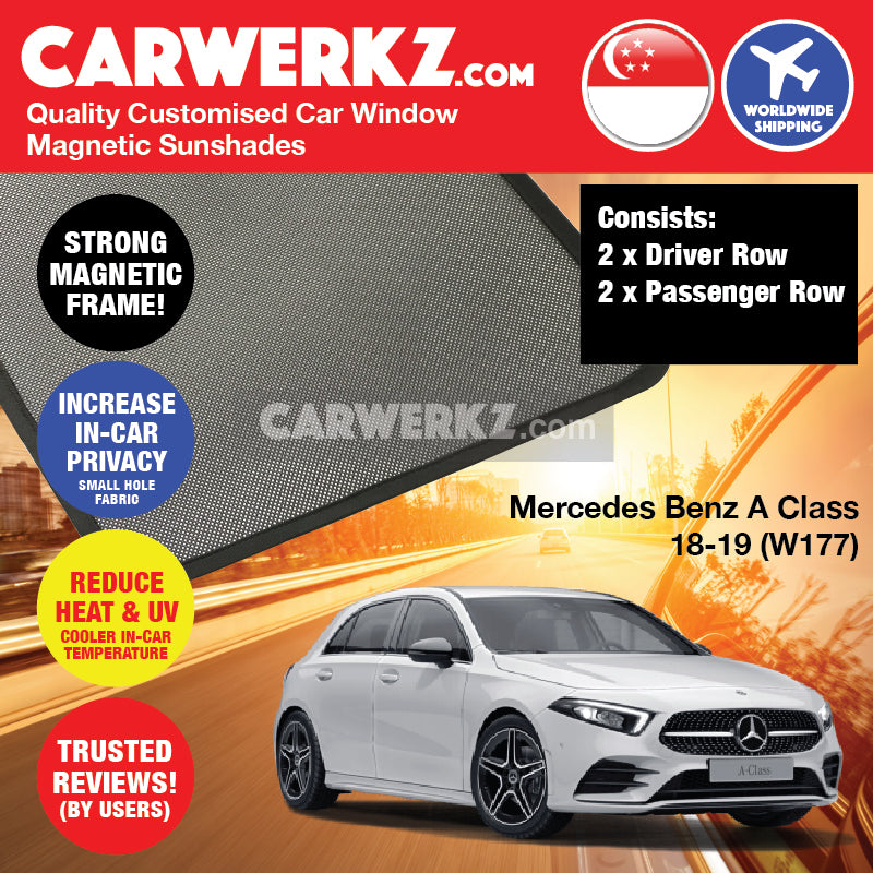 Mercedes Benz A Class Hatchback 2018-2020 4th Generation (W177) Germany Hatchback Customised Car Window Magnetic Sunshades